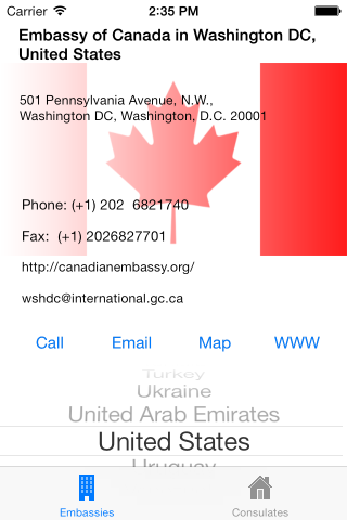 Canadian Embassies & Consulates